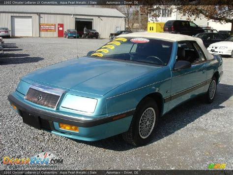 active cabin noise suppression 1992 chrysler lebaron auto manual 1992 chrysler lebaron lx convertible aqua pearl metallic slate photo 1 dealerrevs com