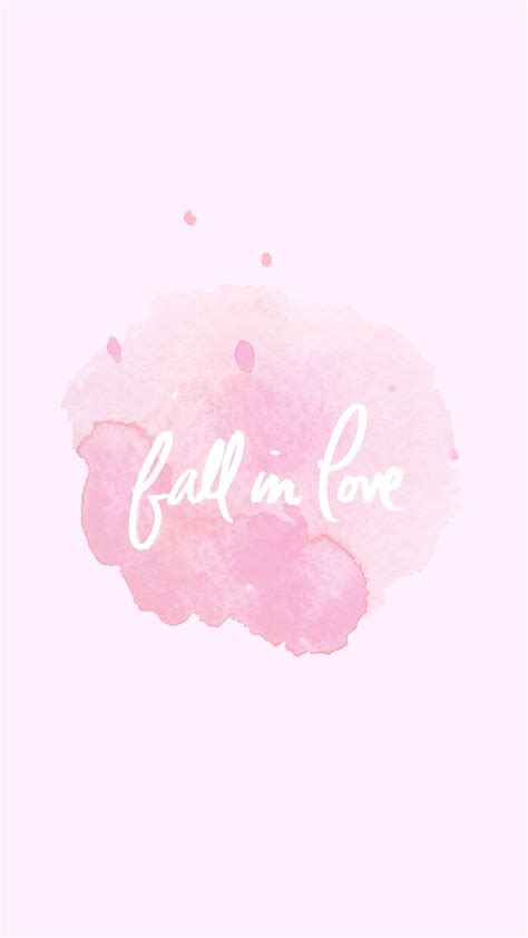 1428mb Pink Inlove fall in pastel pink watercolour phone wallpaper patterns illustrates wallpaper