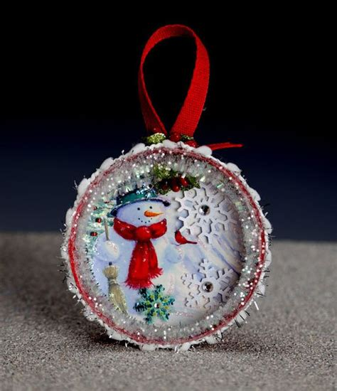 mason jar lids jar lids and christmas ornament on pinterest