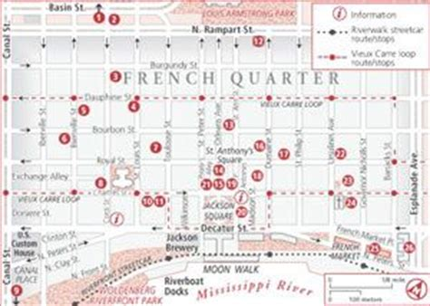 printable french quarter new orleans maps french quarter map with attractions new orleans maps
