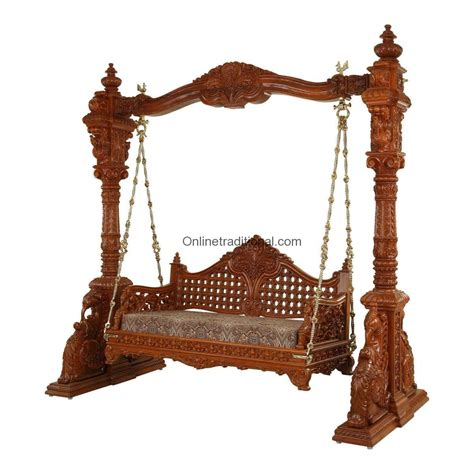antique wooden swing an antique carved teak swing set by pearlhandicrafts com