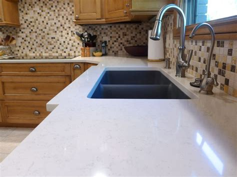 Composite Countertop by Voritum Silestone Quartz Countertop With An Elkay Granite