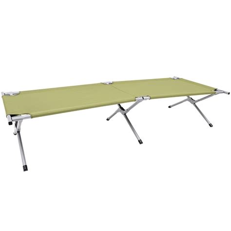army cot bed new outsunny single c bed cot military style sleeping