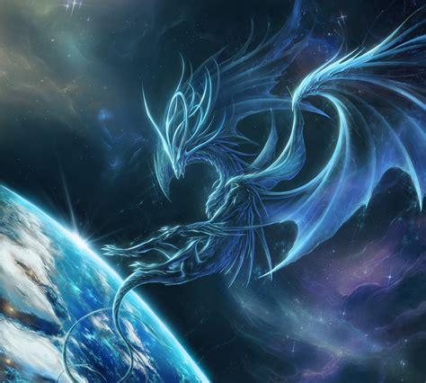 Blue Fire Dragon Wallpaper