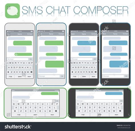 Smartphone Chatting Sms Template Bubbles Place Stock Vector 248289706 Shutterstock Text Message Template