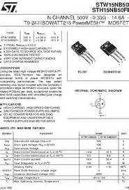 transistor w15nb50 transistor w15nb50 21 images 해외 10pcs stp80nf70 p80nf70 80nf70 to 220 mosfet n mosfet high