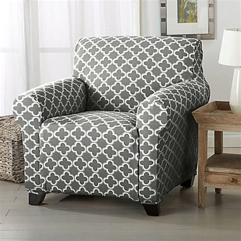 charcoal slipcover buy great bay home brenna strapless chair slipcover in