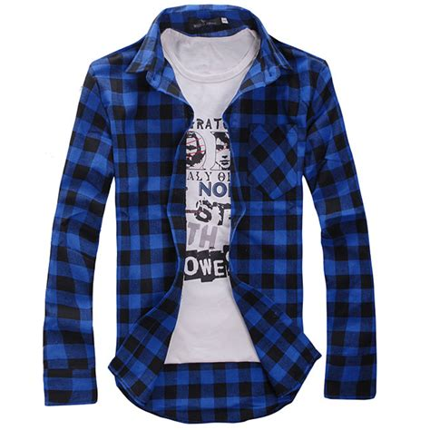 Check Sleeve Fit Shirt mens plaid check sleeve casual shirt slim fit t