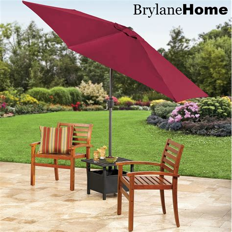Patio Umbrella Side Table The Funky Monkey Giveaway Brylanehome 9 Patio Umbrella And Umbrella Stand Side Table