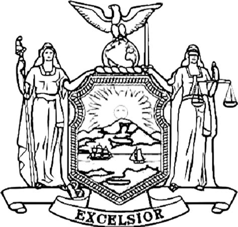 new york flag coloring sheet coloring pages