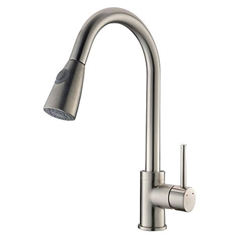 industrial style kitchen faucet vapsint 174 commercial style pull out kitchen faucet brushed nickel pull kitchen faucets