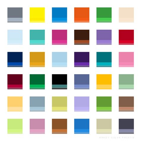 Matching Color Schemes | color matching color schemes and palette design with 6