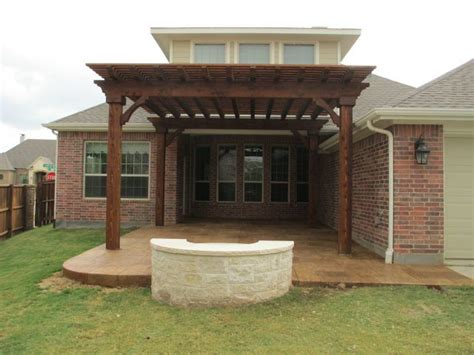 covered patio pit backyard pit pictures best fence 972 245 0640