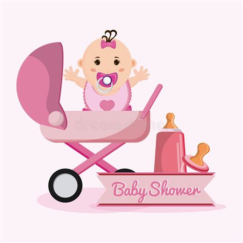 Stroller Baby Shower Theme by Baby Of Baby Shower Concept Stock Vector