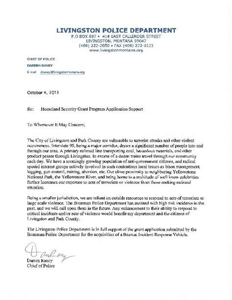 Cover Letter For Grant Report Sle Cover Letter For Grant Report