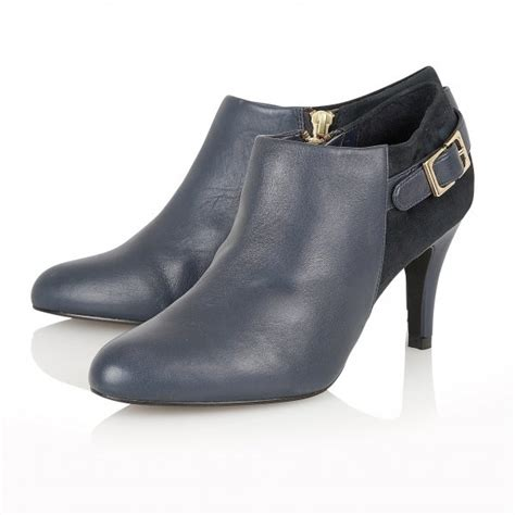 mist navy leather suede shoe boots