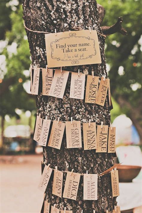 tree trunk escort card display onewed com