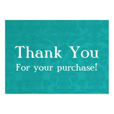 thank you for purchasing our product template teal vintage thank you for your purchase cards large