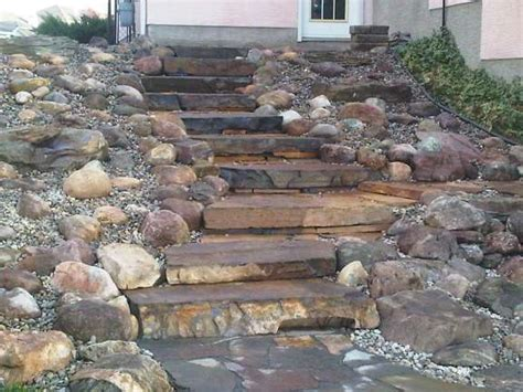 Rock Garden Steps Sloped Rock Garden Idea The Interior Design Inspiration Board