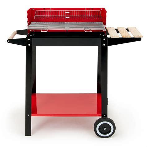 Lu Grill Mobil Barbecue Chariot Grill Mobile Charbon De Bois Acier Bbq 2