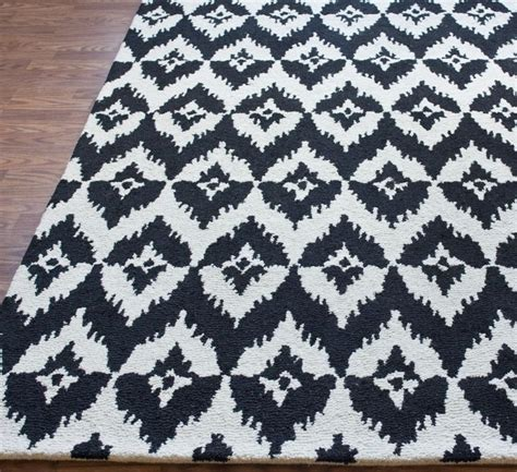 ikat wool rug plymouth chevron ikat black rug