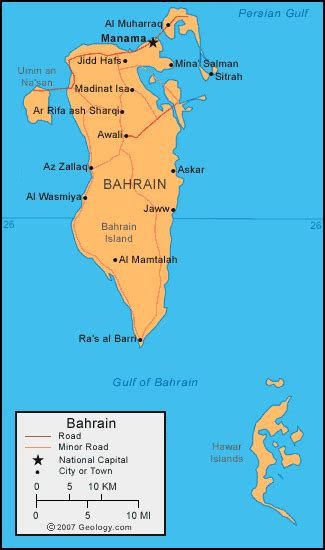 where is bahrain on a world map bahrain map and satellite image