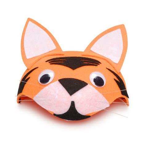 Tiger Orange With Hat orange tiger cat felt animal hat