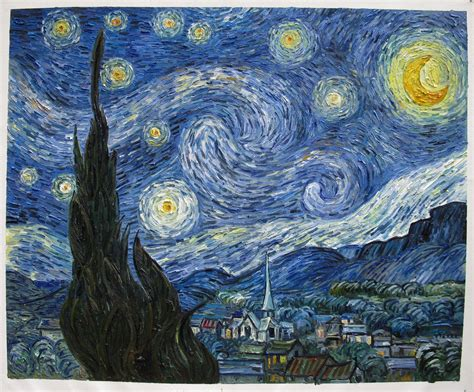 starry night starry night van gogh reproduction hand painted van