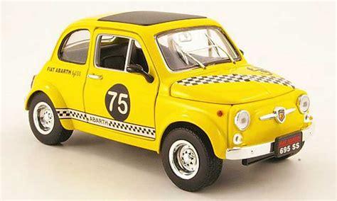 fiat 500 abarth 695ss yellow no 75 mondo motors diecast
