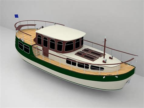 dutch motor boat classic motor yacht in style dutch barge 12m boat design