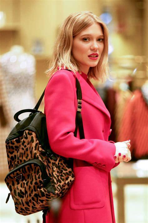 lea seydoux new york lea seydoux shopping in new york city celebzz celebzz