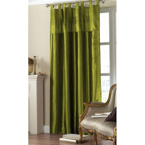 olive green curtain panels olive green tab top embroidered curtain panel hd home