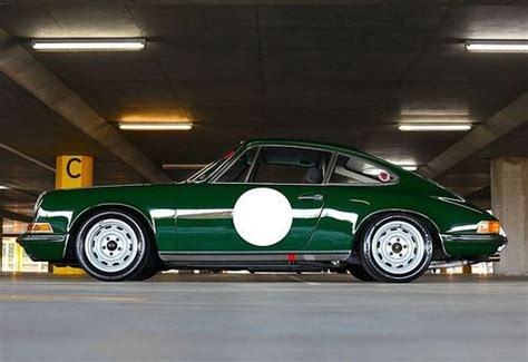 porsche british racing green great steel wheels restomod 911 pinterest irish