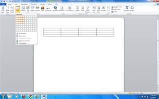 inserting a table in microsoft word 2010 microsoft