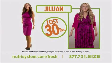nutrisystem commercial actress jillian nutrisystem fresh start sales event tv commercial feat