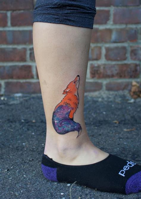 small cover up tattoo small color fox galaxy coverup by ben licata