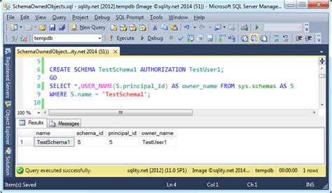 create schema the mysterious schema owner sqlity net