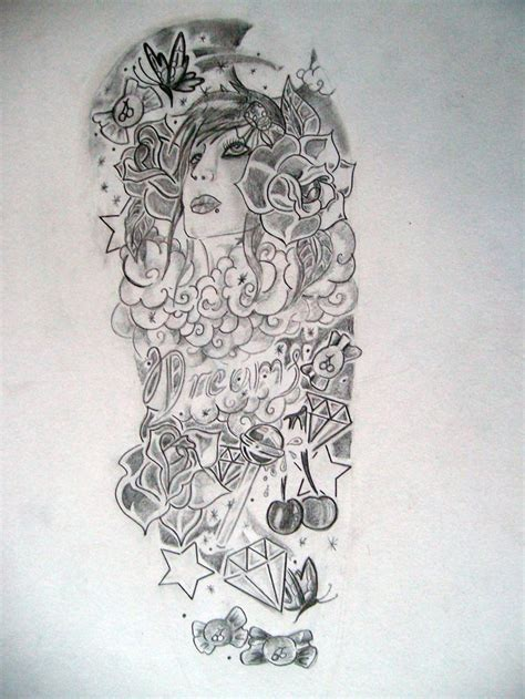half sleeve girl tattoos half sleeve designs for sketch