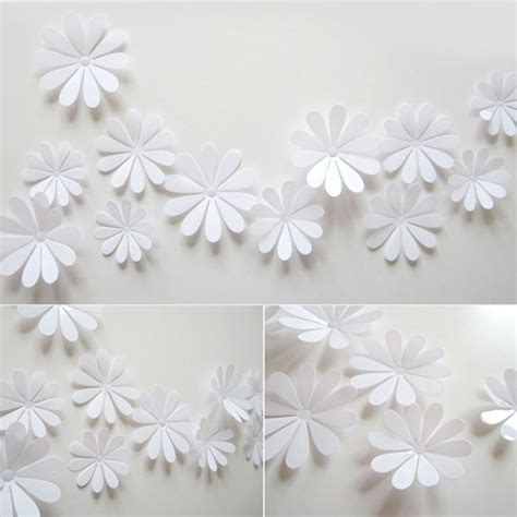 wall sticker paper diy 3d flowers wall sticker mirror decal pvc paper for