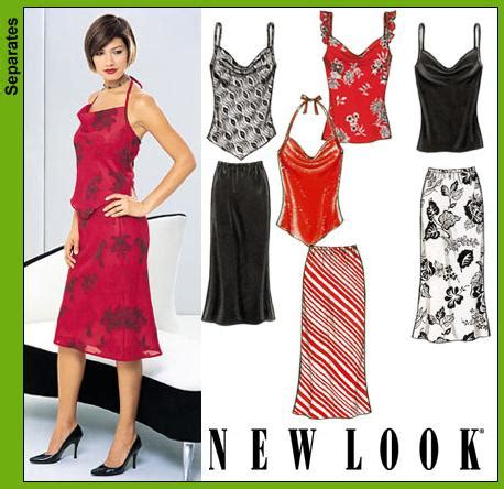 pattern review for new look 6302 new look 6153 misses tops and skirt