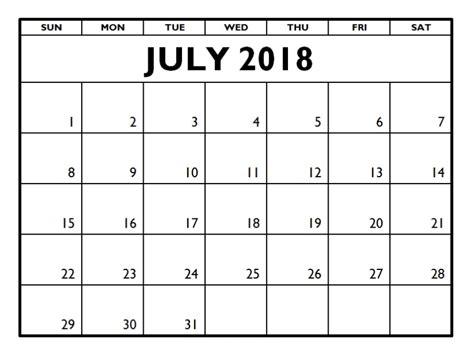 printable july 2018 calendar july 2018 calendar printable template pdf uk usa canada