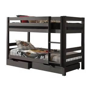 lit superpos 233 2 tiroirs de lit enfant quot pino quot gris