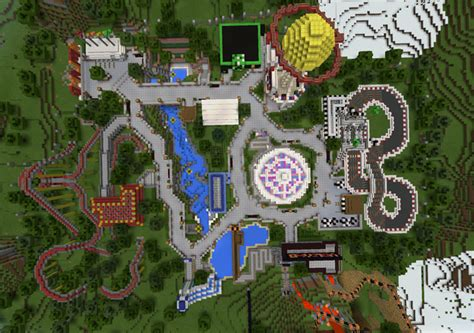 theme park names minecraft am land amusement park creation roller coaster
