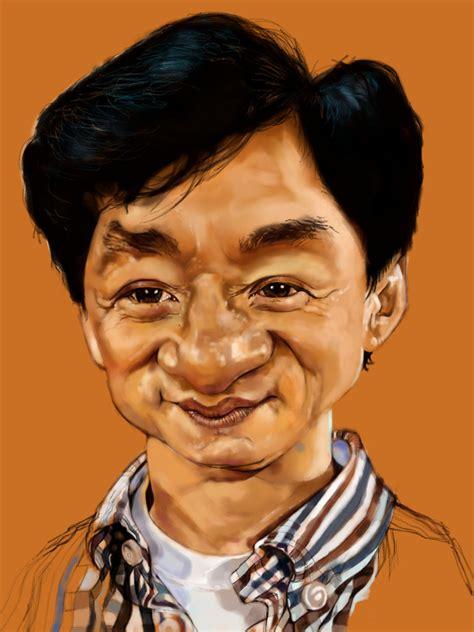Kaos 3d Jackie Chan White Jackie Chan Sketchclub App I Did It