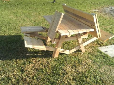 Portable Rectangle Wooden Fold Up Picnic Table With