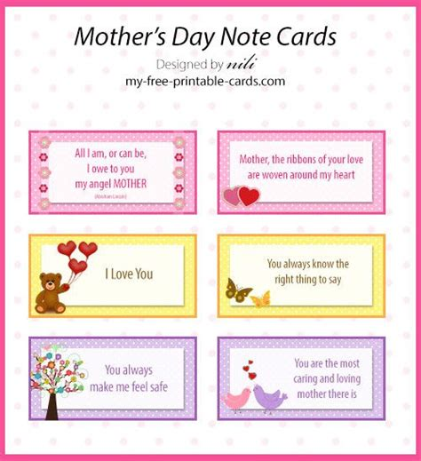 Pinterest Free Printable Note Cards | free printable mother s day note cards my free printable