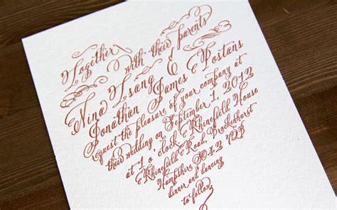 wedding invitation lettering studio