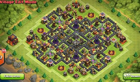 layout for th9 5 th9 farming and war base layouts with 2 air sweeper