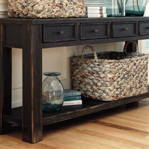 Overstock Sofa Tables Gavelston Rubbed Black Sofa Table Overstock
