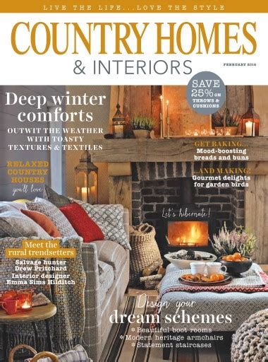 country homes and interiors subscription country homes interiors magazine february 2016